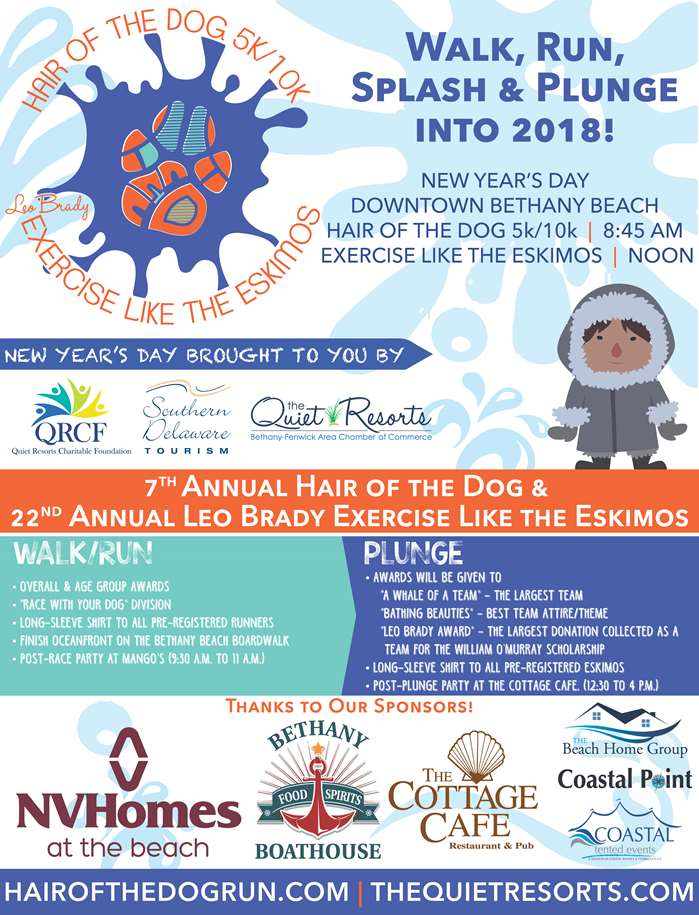 7th Annual Hair of the Dog & 22nd Annual Leo Brady Exercise Like the Eskimos in Bethany Beach