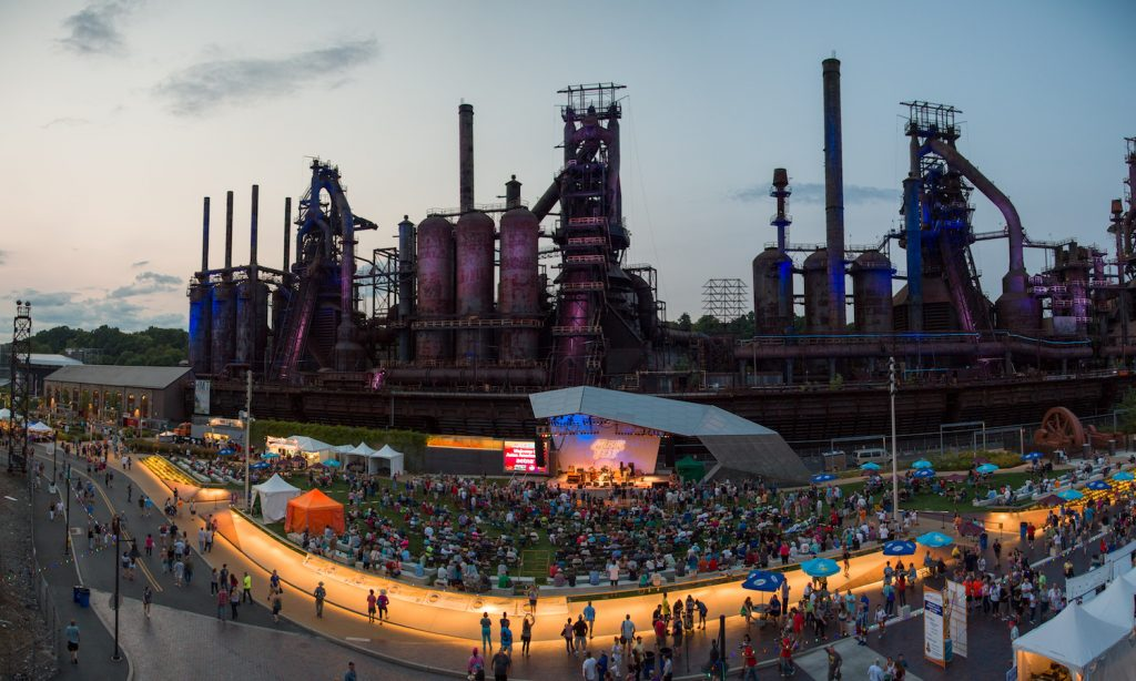 Overview of Steelstacks during Musikfest