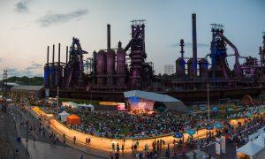 Overview of Steelstacks during Musikfest