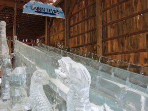 Image of the ice slide at Crystal Cabin Fever