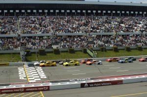 Image of cars on track at Pocono Raceway