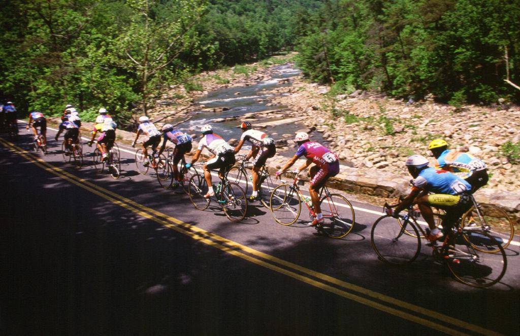 Cycling in Goshen Pass