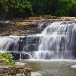 short long waterfall