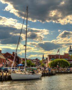 Annapolis City Dock at Sunrise
