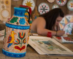 Crafts exhibit from the Annual Kutztown Folk Festival
