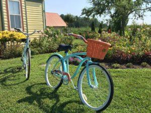 Two bikes outside Whitehaven Hotel